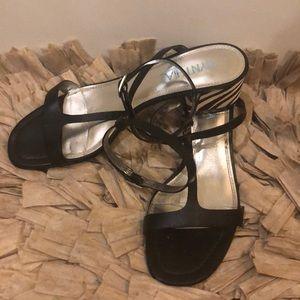 Cynthia Rowley zebra heel sandal